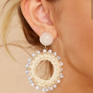 Woven Circlular Earrings with delicate Bead Detail